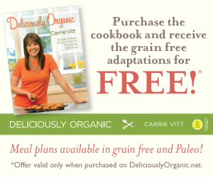 Purchase the cookbook and receive the grain-free adaptations for FREE!
