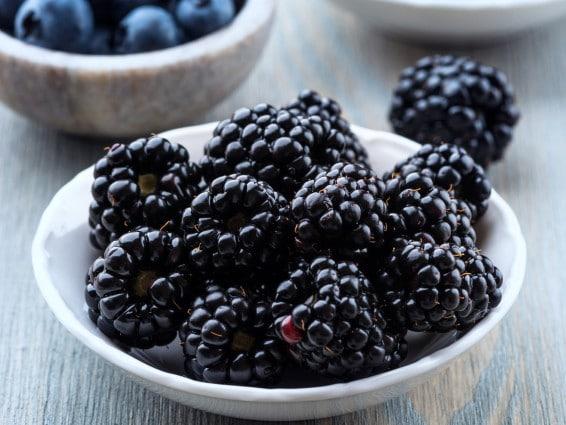 Blackberries and Devonshire Cream