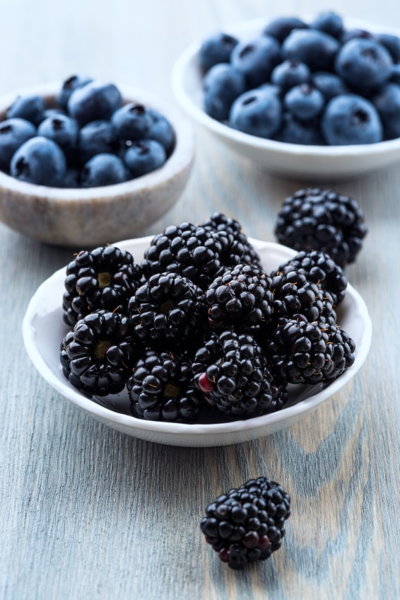 Blackberries are by far my most favorite berries ever! And when they are paired with Devonshire cream, it's a fantastic afternoon snack!