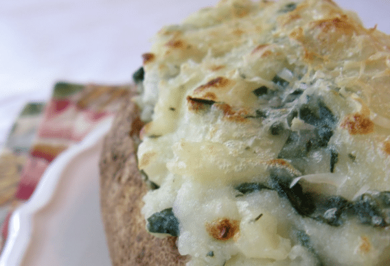 Twice Baked Spinach Potatoes