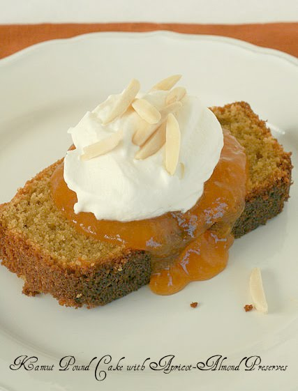Kamut Pound Cake with Almond-Apricot Preserves