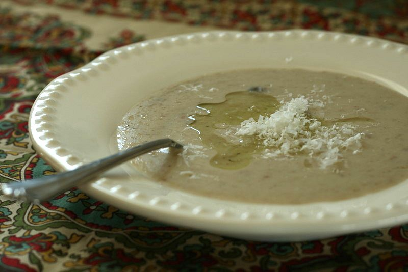 Cauliflower Soup with Black Truffle Oil - Deliciously Organic
