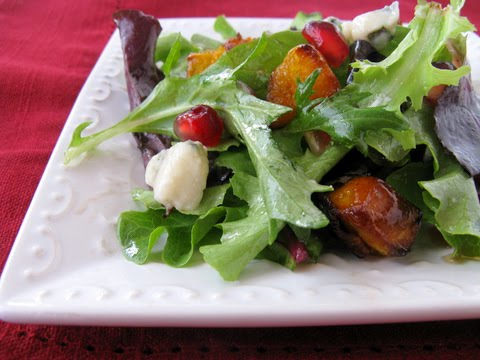 Roasted Butternut Squash, Pomegranate, and Roquefort Salad via ...