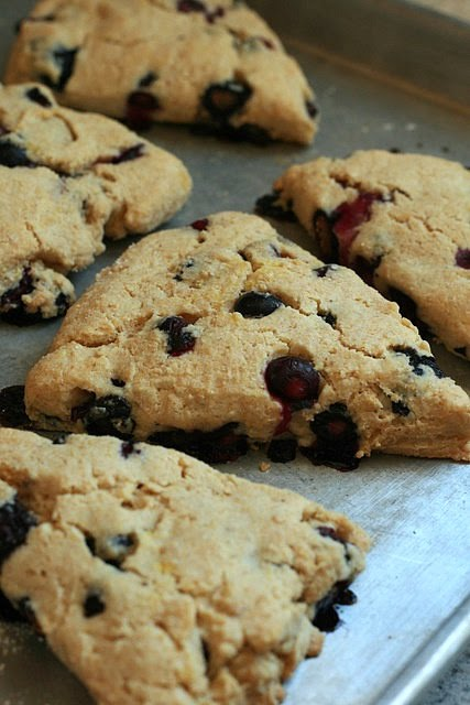 Blueberry and Cornmeal Scones - Deliciously Organic