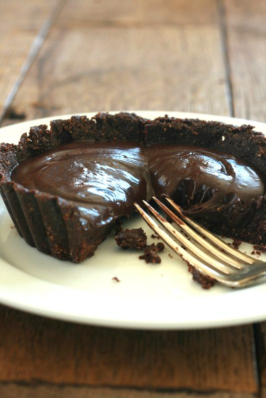 Fudgy Chocolate Tart (Grain-Free, Paleo)