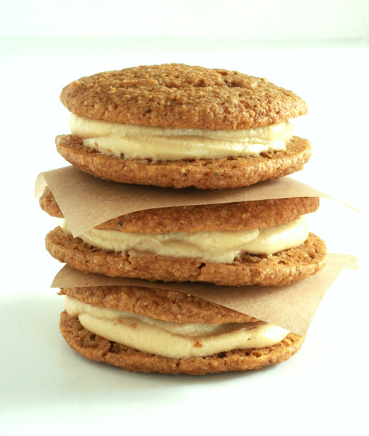 Whole Wheat Pumpkin Whoopie Pie with Maple Cream Cheese Frosting