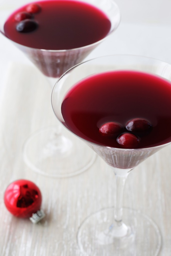 I like serving beautiful, festive cranberry-amaretto kisses because you can mix them a day ahead and then concentrate on enjoying your guests. Throw in a few floating cranberries and you've got the perfect holiday cocktail.