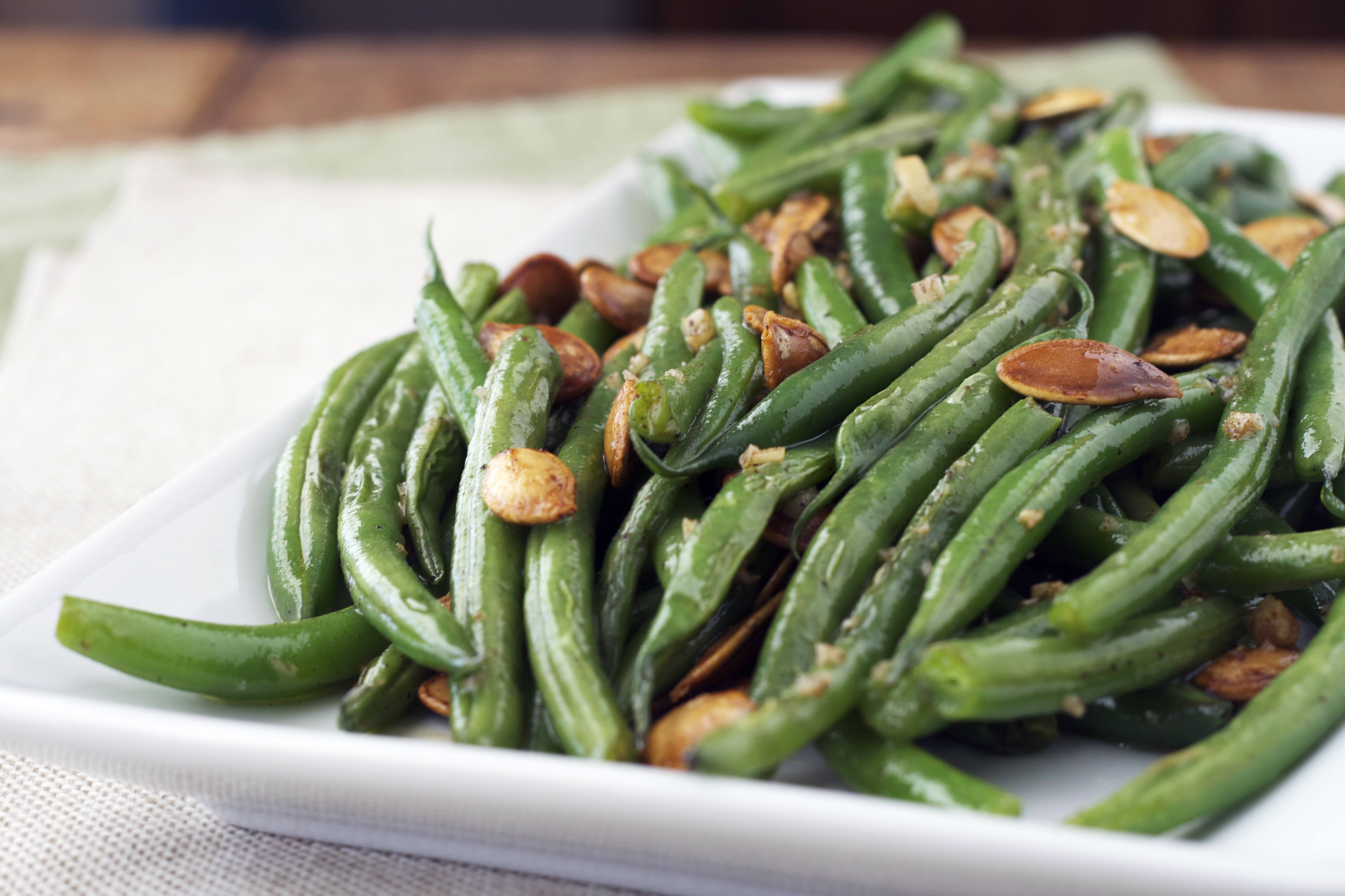 Green Beans with Brown Butter and Pepitas