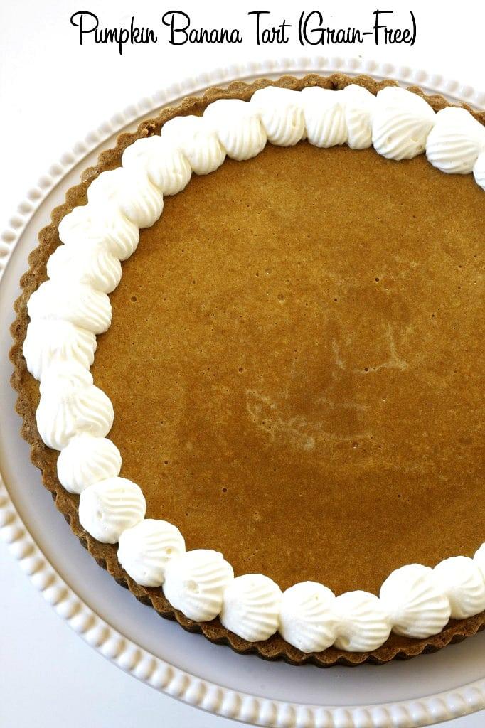 Pumpkin Banana Tart (Grain-Free) via DeliciouslyOrganic.net
