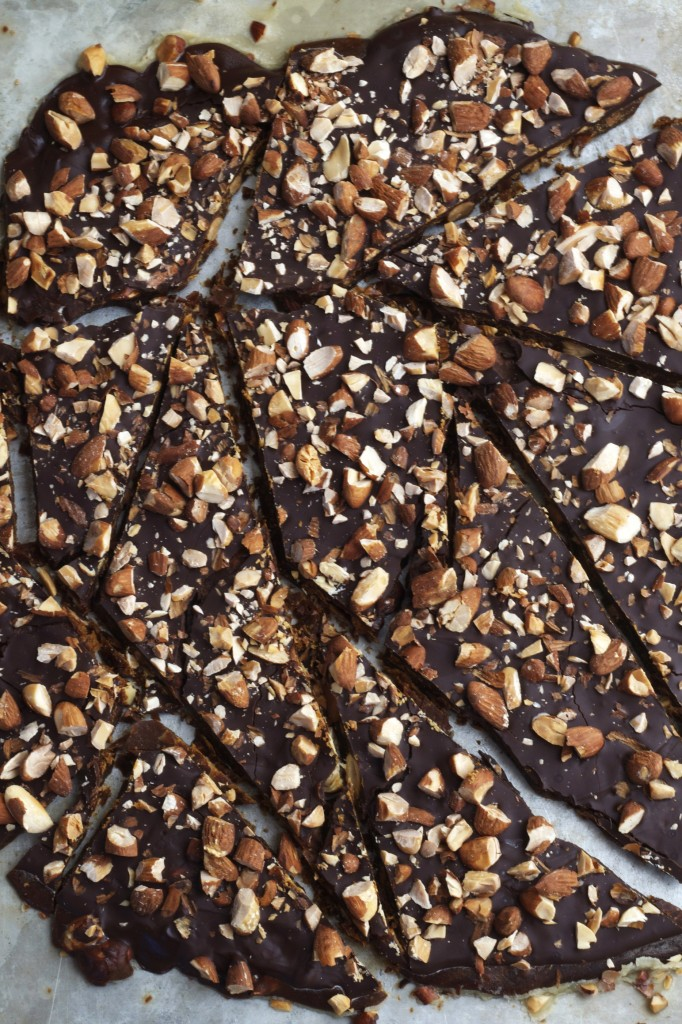 There won't be any leftovers of this delicious organic almond toffee that's made without corn syrup!
