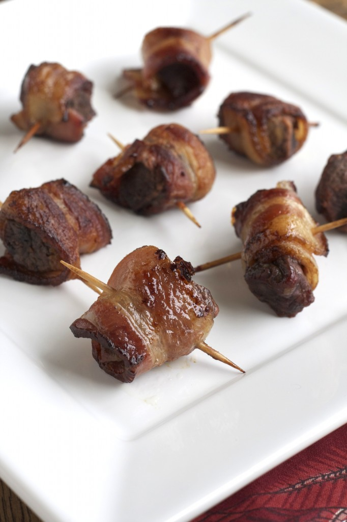 These bacon wrapped steak bites are amazing and perfect for your next party. You can even make them ahead of time and freeze them!