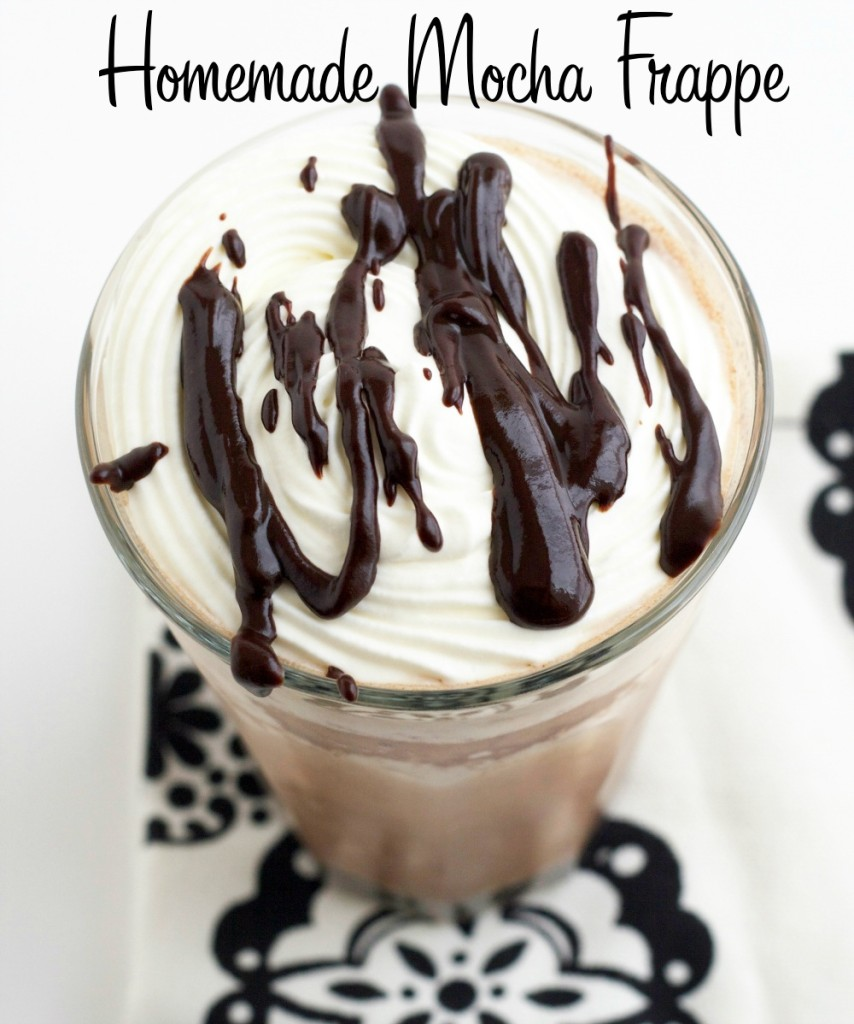 For the mocha frappe recipe I blend coffee with honey, freeze it into cubes, blend it with my chocolate sauce and milk, and top it with whipped cream. The result? Sweet, organic perfection in a glass.