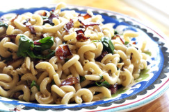 Chard-Bacon-Red-Onion-Pasta