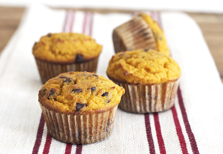 Pumpkin Muffins with Chocolate Chips (Grain Free, Paleo, Primal ...