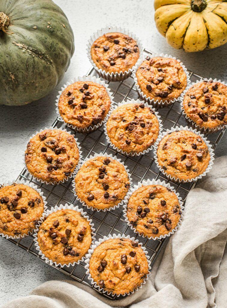 Pumpkin Muffins with Chocolate Chips (Grain Free, Paleo, Primal)
