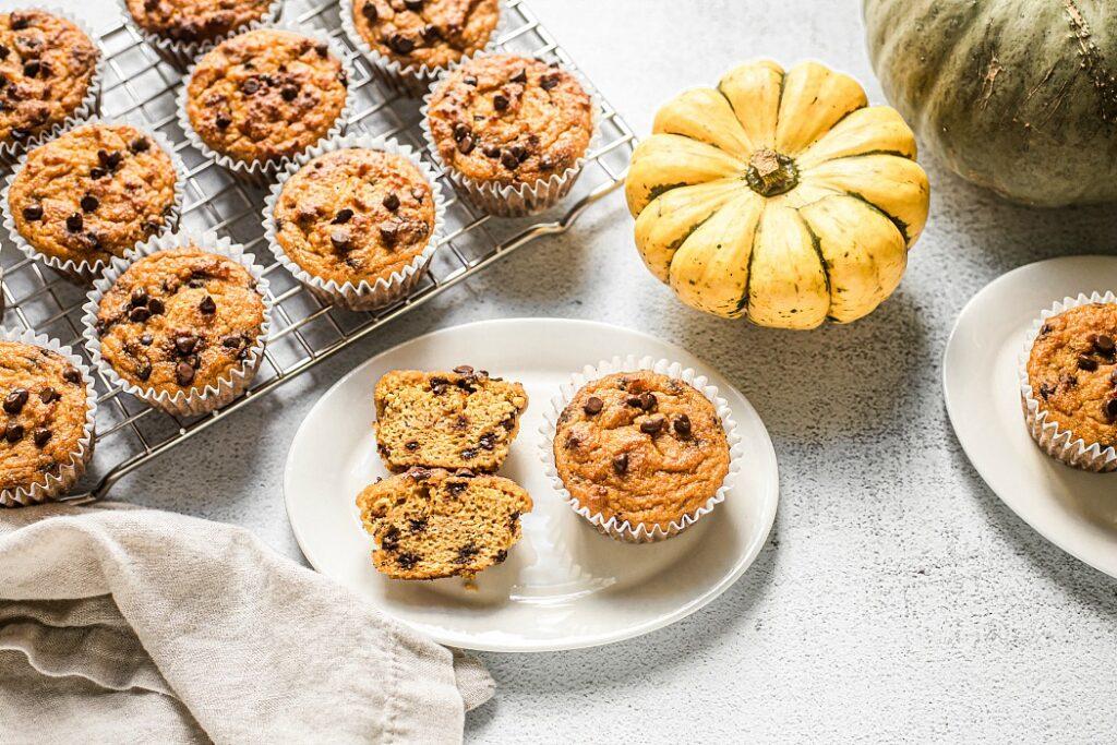 Pumpkin Muffins with Chocolate Chips (Grain Free, Paleo)