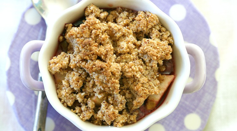 Apple, Cherry and Blueberry Crisp