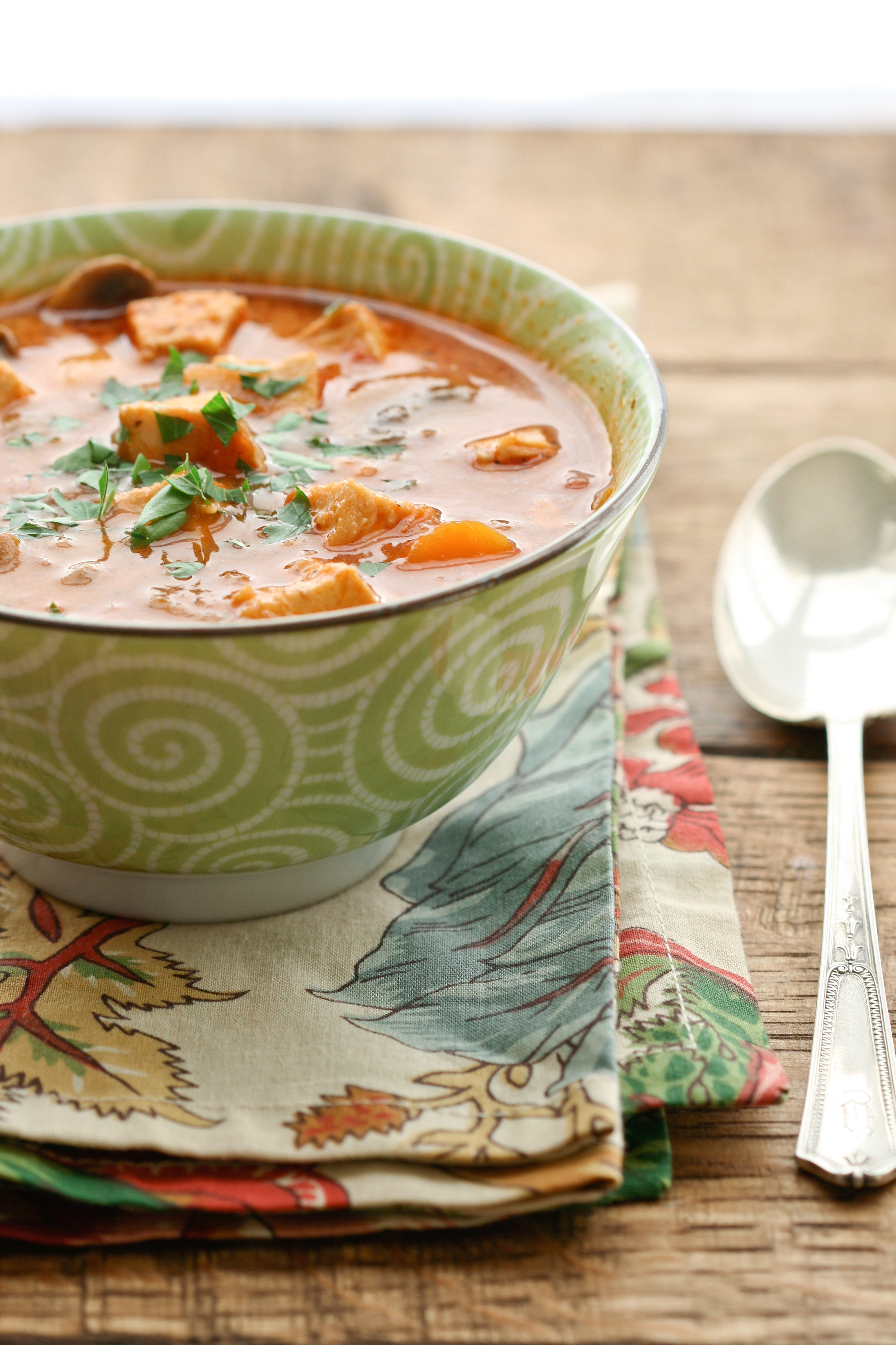Creamy Chicken, Vegetable and Tomato Soup - Deliciously Organic