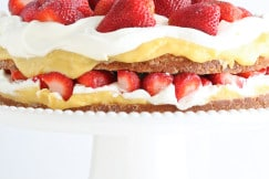 Coconut Cake with Strawberries
