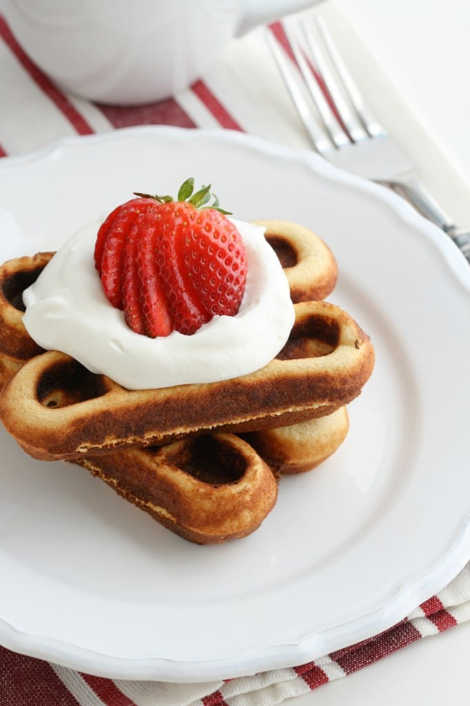 These coconut flour grain free waffles are a perfect Paleo weekend treat! Make some extras to freeze for busy weekday morning breakfasts!
