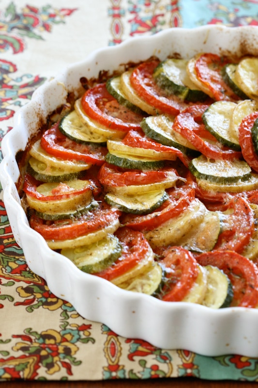 Vegetable Tian via DeliciouslyOrganic.net #grainfree