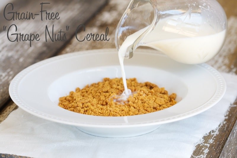 "Grain-Free ""Grape Nuts"" Cereal via www.DeliciouslyOrganic.net #paleo"