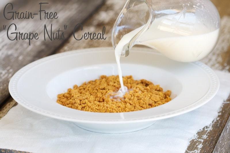 "Grain-Free ""Grape Nuts"" Cereal via www.DeliciouslyOrganic.net #paleo"