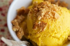 Pumpkin Ice Cream with Graham Cracker Crumbles via DeliciouslyOrganic.net