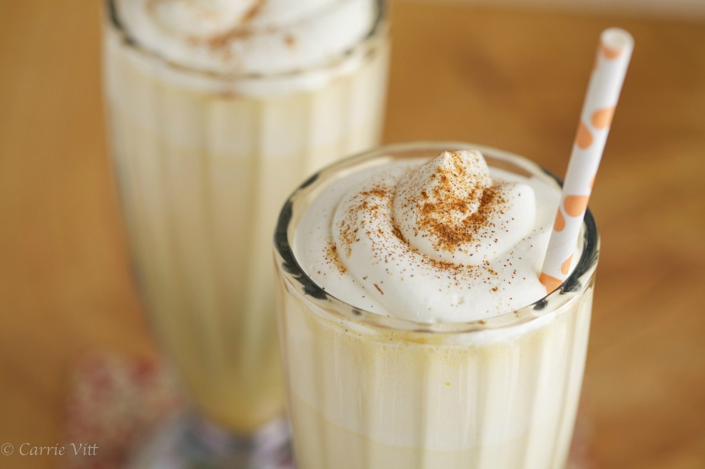 Pumpkin pie shake - a blend of nourishing ingredients that taste like fall. Sometimes I make it as an after-school snack, but you can try it as an easy breakfast or, topped with whipped cream, as a nice dessert.