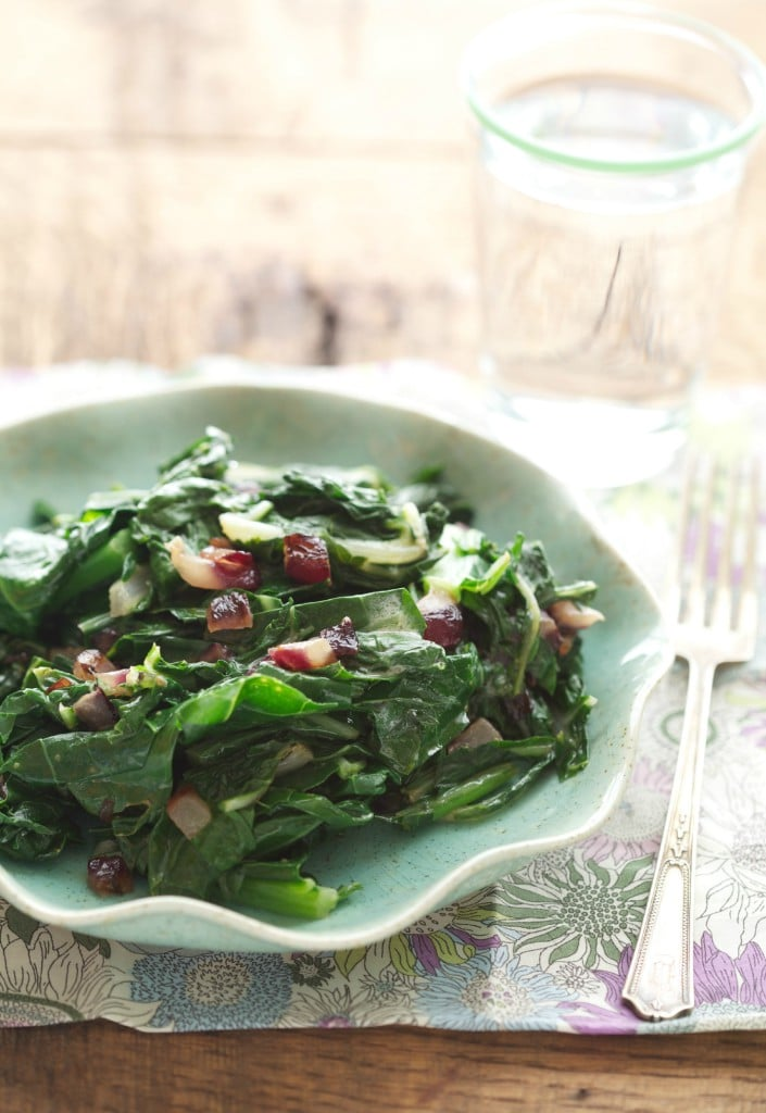 Sautéed leafy greens are great dish to serve alongside roasted meat or fish, or if you really love your vegetables, a bowl of this for dinner makes for a simple and delightful vegetarian meal.