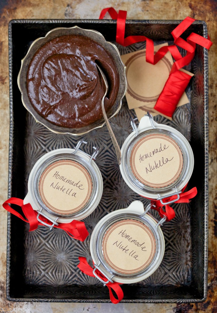 "Homemade Chocolate Hazelnut Spread ""Nutella"" via DeliciouslyOrganic.net #paleo"