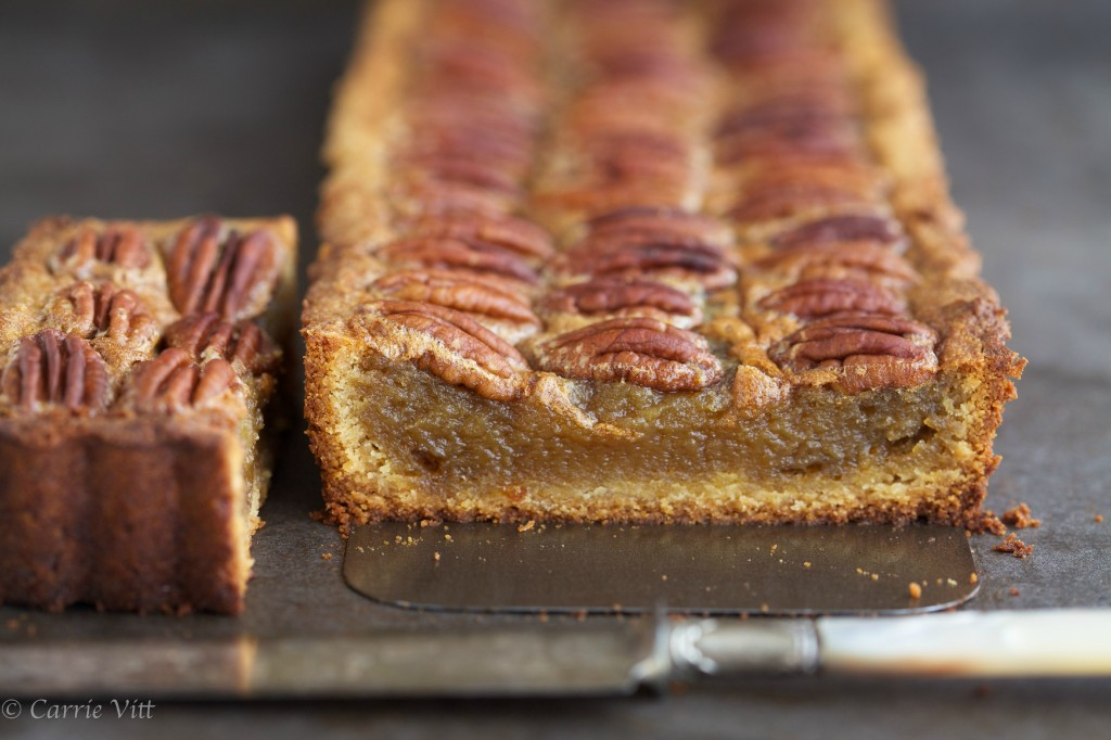 The filling in this grain free Paleo pecan pie isn't overly sweet - just nice and subtle. The pecans are crunchy on top and the crust is tender and buttery.