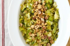 Brussels Sprouts with Lemon and Hazelnuts via DeliciouslyOrganic.net