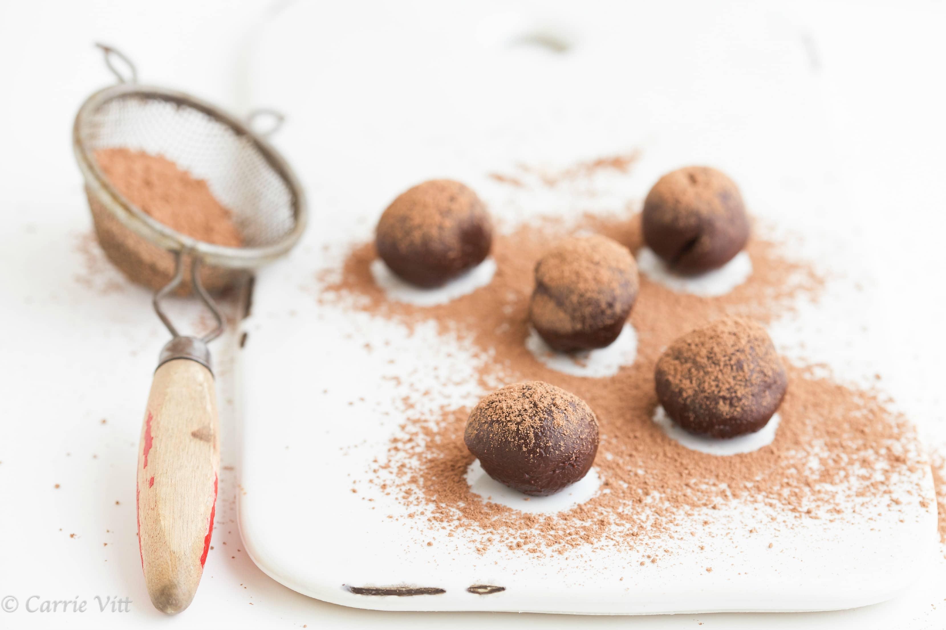 Chocolate Truffles (Grain Free, Dairy Free, Paleo) - Deliciously ...