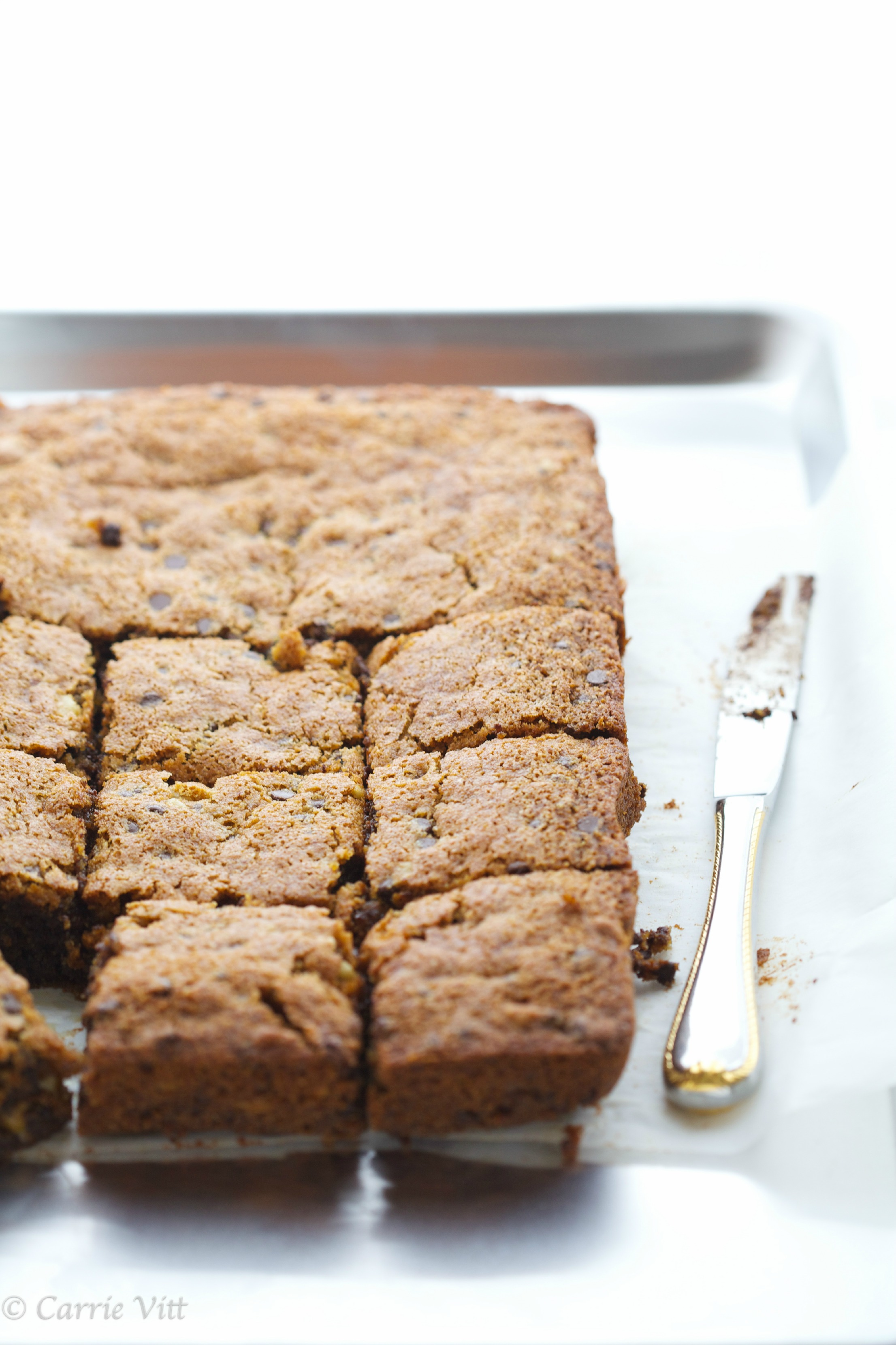 Chocolate Chip Walnut Blondies (Grain Free)