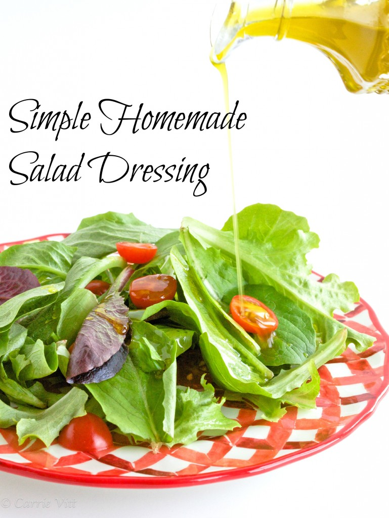 You can throw out all those pre-made bottles of salad dressing and make your own with a few simple ingredients. There's no need to be intimidated. It's really simple.
