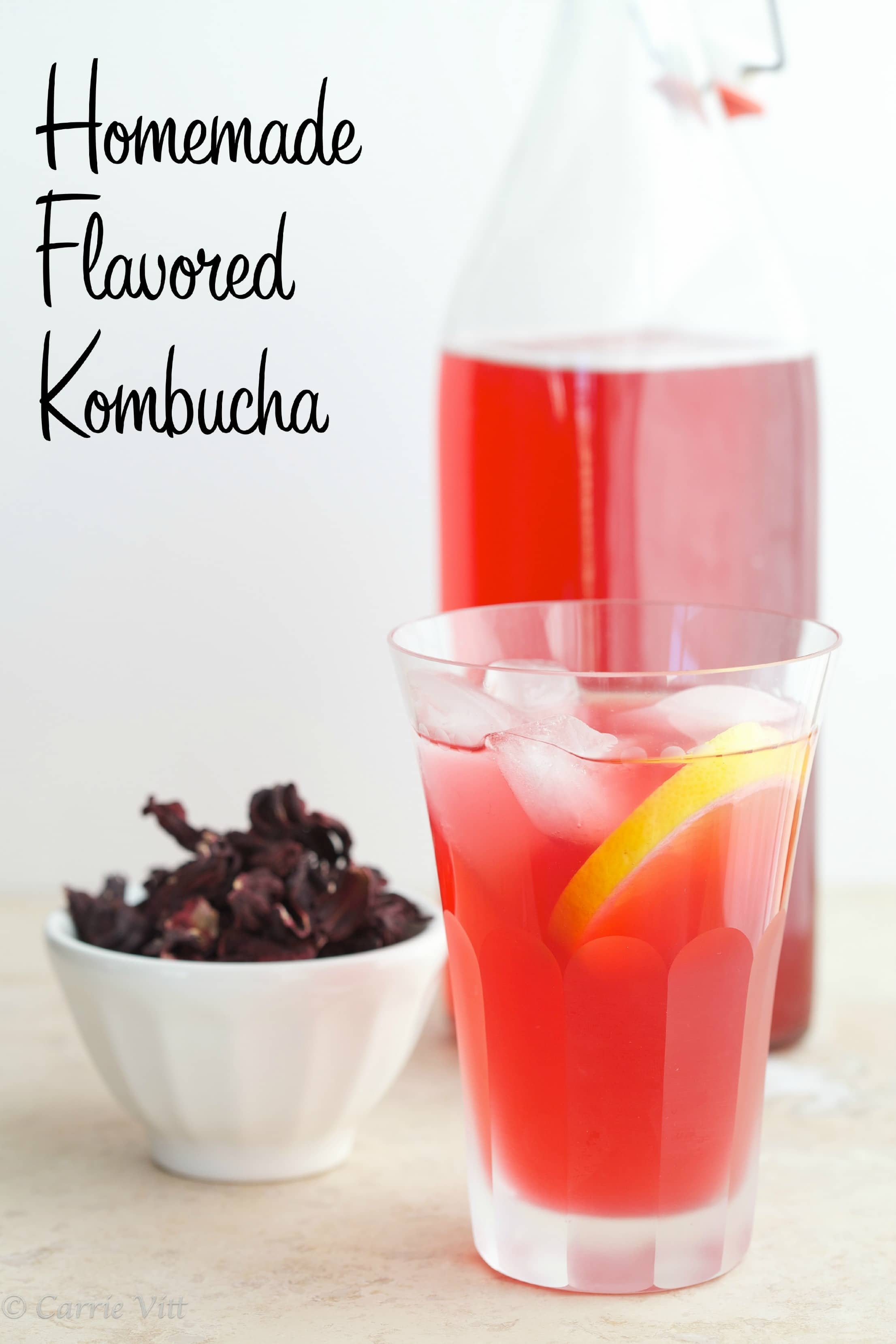 Homemade Flavored Kombucha