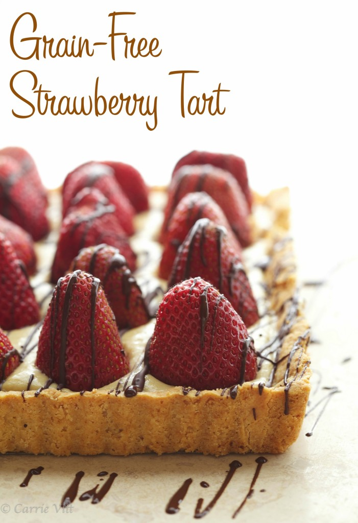 Grain-Free Strawberry Tart via DeliciouslyOrganic.net #paleo