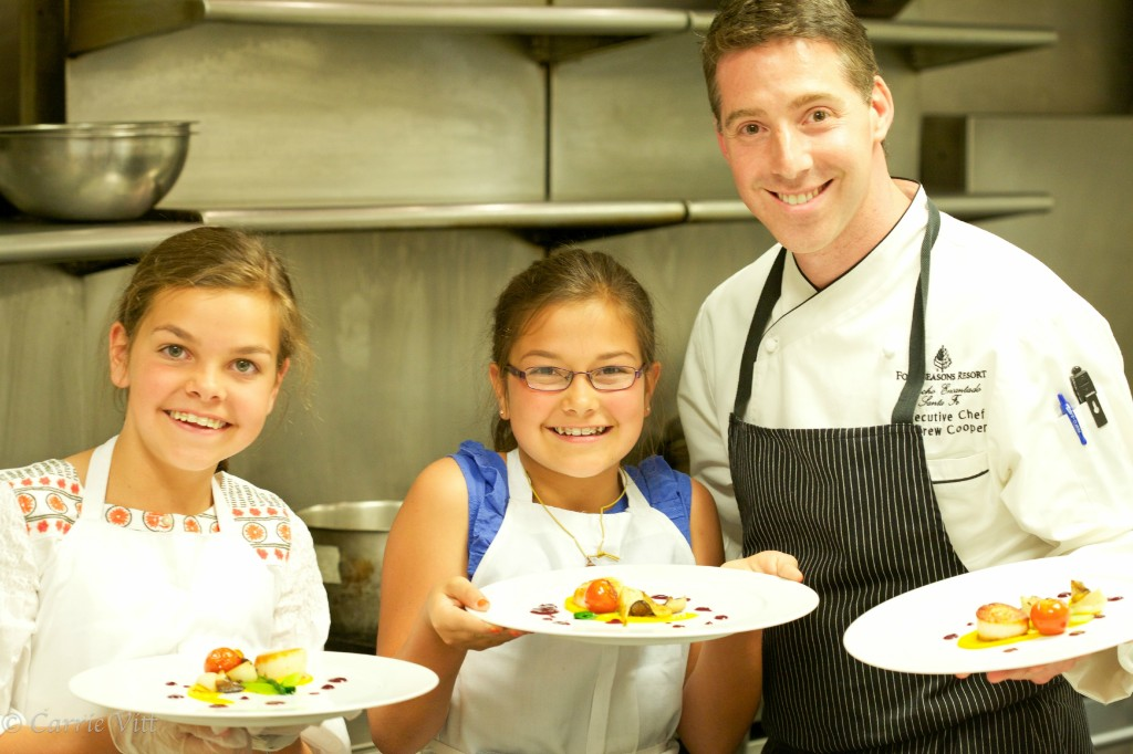 Cooking in the Kitchen with Chef Andrew at Four Seasons Santa