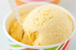 Fresh Apricot Ice Cream via www.DeliciouslyOrganic.net #paleo