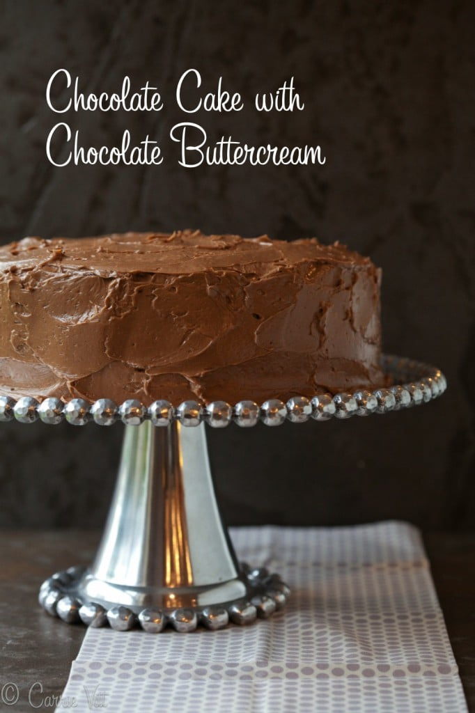 Grain Free, Paleo Chocolate Cake with Chocolate Buttercream via www.DeliciouslyOrganic.net