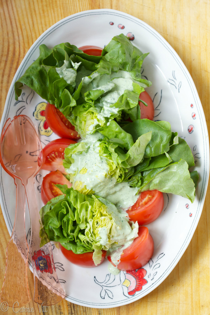 Green Goddess Salad Dressing via www.DeliciouslyOrganic.net