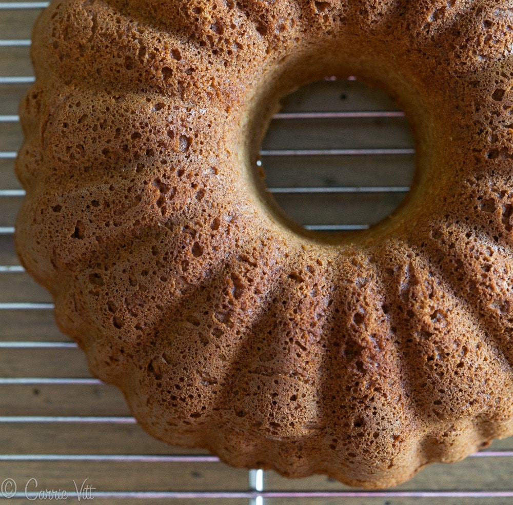 This is a classic vanilla bundt cake. Not too sweet with a nice vanilla flavor. You can add different mix-ins like nuts, plumped raisins, chocolate chips, cranberries, etc.