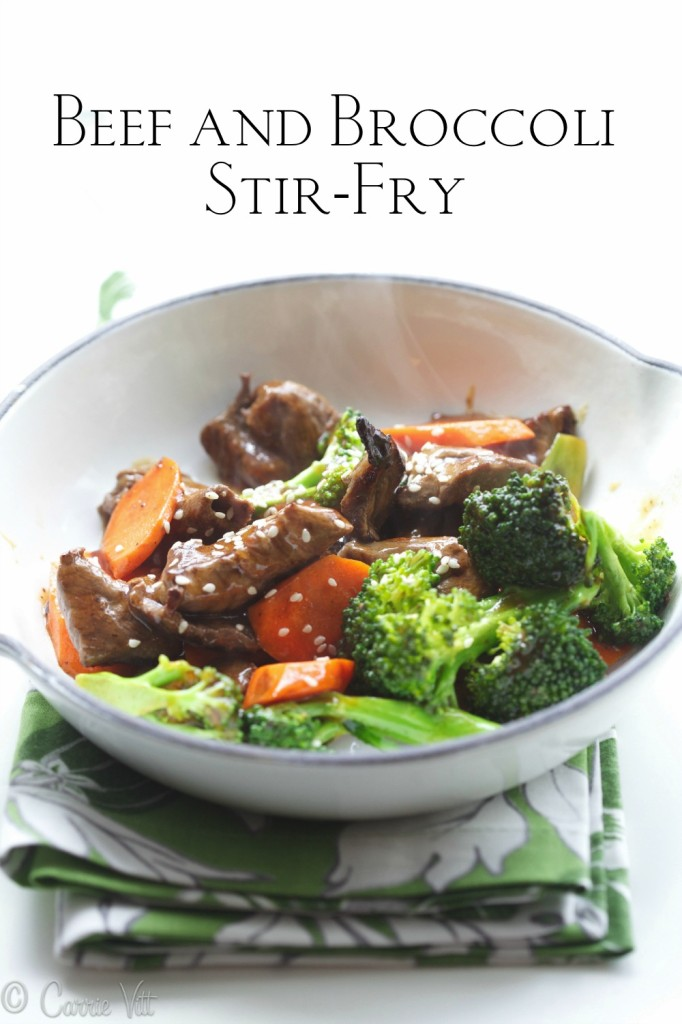 Beef and broccoli stir-fry is such a classic recipe. If it's going to be a busy day, I'll prep the ingredients in the morning so when I come home I can have dinner on the table in about 15 minutes.