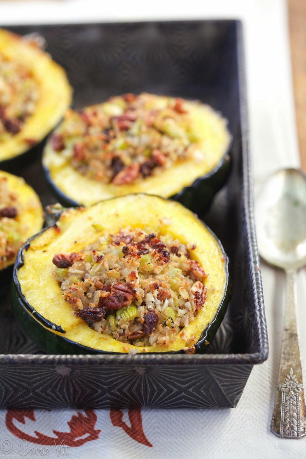 Stuffed acorn squash makes for an easy weeknight meal. It's easy to ...