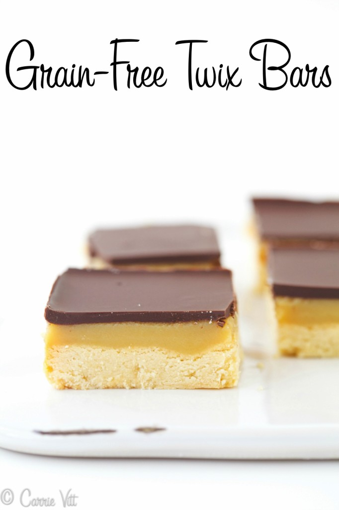 Homemade Twix - If I'm going to eat candy, I'd much rather make it myself than buy it at a store. No one will ever know these homemade twix bars are grain free & Paleo!