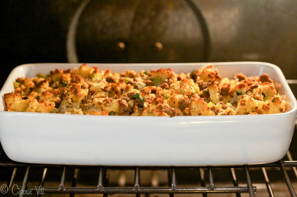 Cornbread and Sausage Stuffing - Homemade grain-free Paleo 'cornbread ...