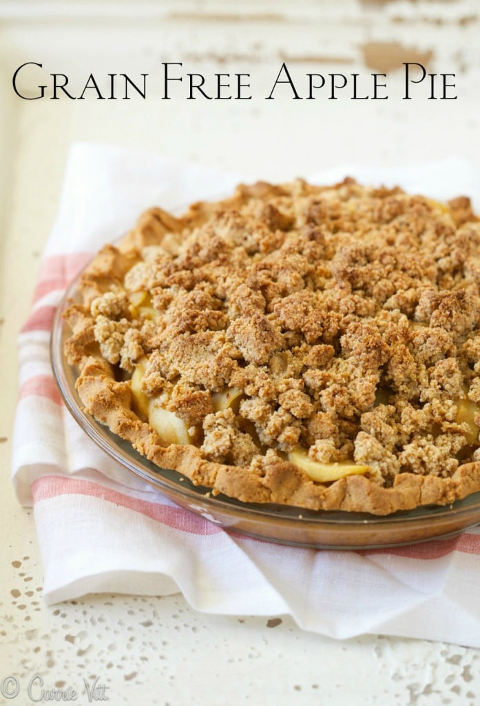 Grain Free Apple Pie via DeliciouslyOrganic.net (Paleo)