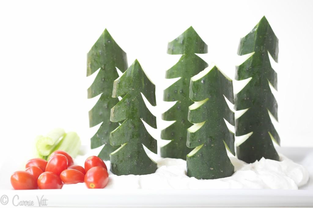 A Festive Take on Veggies and Dip via DeliciouslyOrganic.net