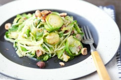 Zucchini Noodles and Brussel Sprouts Small